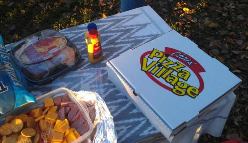 Picnic with Chris' Pizza Box
